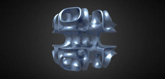 Cubic lattice abstract 3D Model