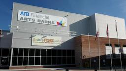 Art Barns Theater and Orange Hall on 104 street 84 ave in Edmonton, Alberta Live Action
