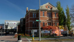 Edmonton Public Library on 104 street 84 ave under construction Live Action