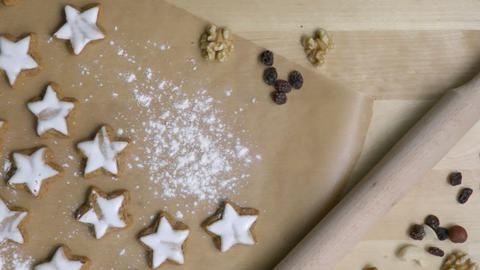 Christmas cookies in star shape cooking process Footage