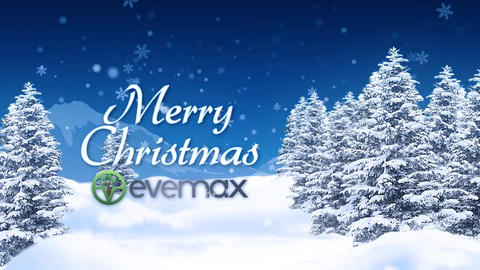 Christmas Landscape Wishes After Effects Template