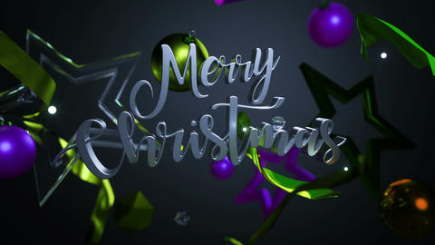 Merry Christmas and Happy New Year 3D Loop Animation Animation