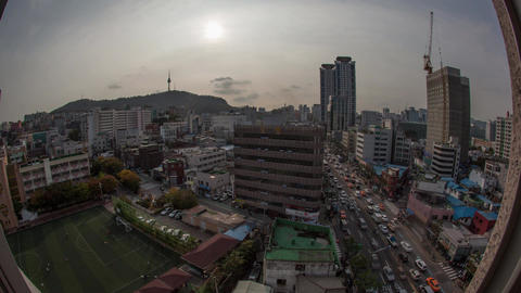 Timelapse of city life in Seoul, South Korea Live Action