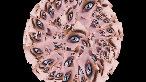Digital animation of a quantity of appearing eyes Animation