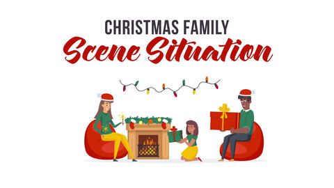 Christmas family - Scene Situation After Effects Template