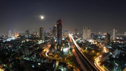 Timelapse of Bangkok life at night, Thailand 이미지