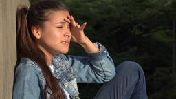 Angry Stressed And Distraught Teen Girl Footage