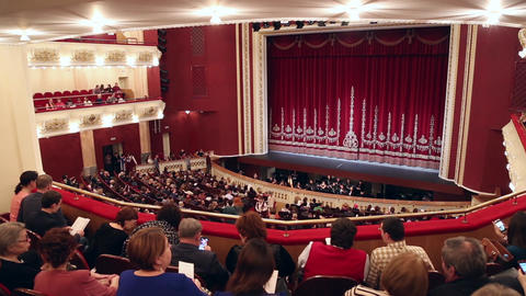 Concert hall with the audience Live Action