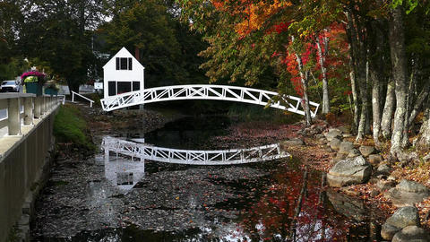 From Village of Somesville is this most photographed bridge and museum building Footage