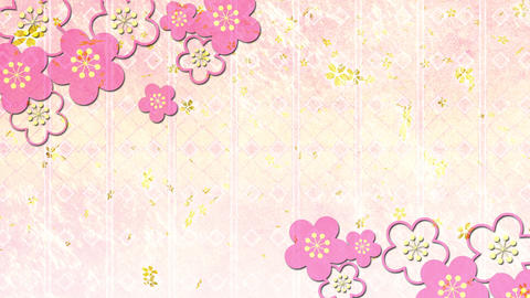 Cherry blossom petals background material Animation