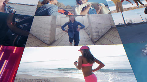 Grid Wall Gallery After Effects Template
