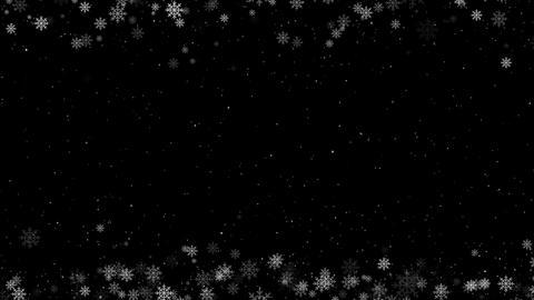 Snowy Frame Loop Overlay Animation