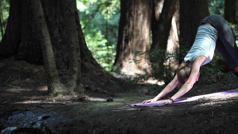 Woman doing yoga Stock Video Footage