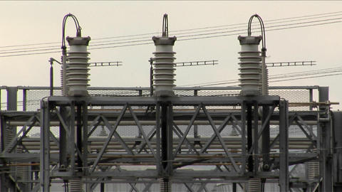 Wires and cables wrap around transformer Stock Video Footage