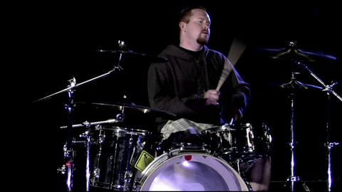A musician plays the drums Footage