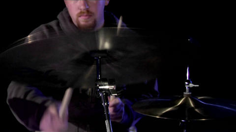 A drummer plays the cymbals Stock Video Footage