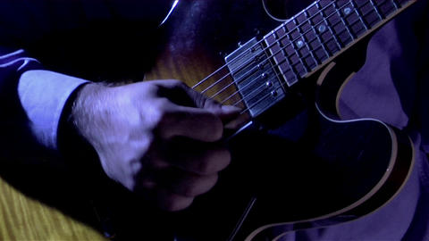 A man plays the guitar Stock Video Footage