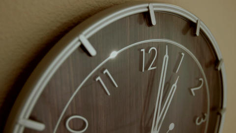 The hands of a clock turn Stock Video Footage
