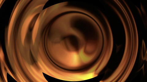 Bright Orange Flames Spin Against A Black Background stock footage
