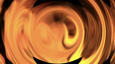 Bright orange flames spin against a black background Stock Video Footage