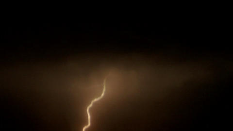 Lightning flashes in a dark sky Stock Video Footage