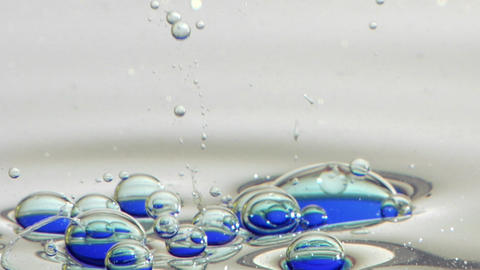 Blue oil patterns Stock Video Footage