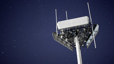 A magnificent shot of a transmitter against the moving... Stock Video Footage