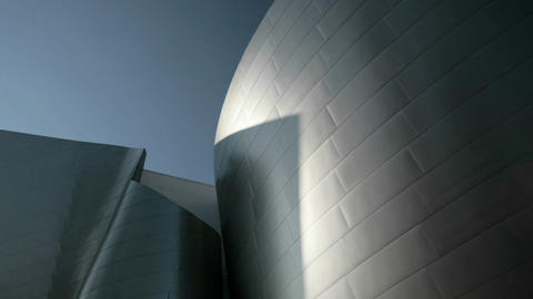 A time-lapse shot of shadows moving across a modern piece of architecture Footage