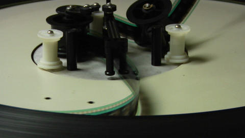 Film spools through a projector Stock Video Footage