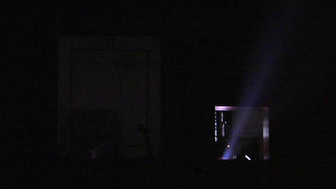 Light Shoots Out Of A Theater Projector stock footage