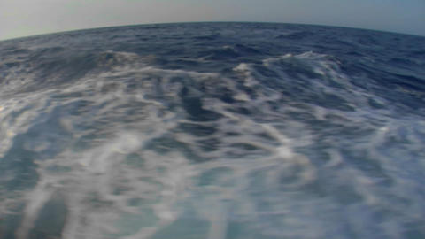 A view of the wake of a boat Stock Video Footage