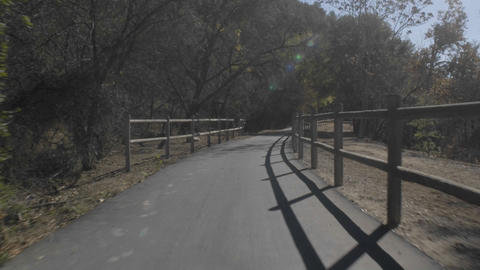 Point of view time lapse cycling down the Ojai to Ventura... Stock Video Footage