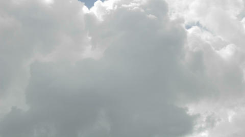 Time lapse of billowing clouds in Oak View, California Stock Video Footage