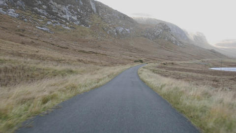 Point of view time lapse driving on Doocharry Road into Glenveagh National Park, Ireland Footage