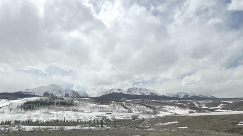 Time lapse of storming developing over the Gore Range in Silverthorne, Colorado Footage