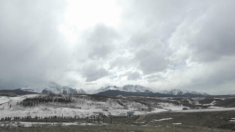Time lapse of storming developing over the Gore Range in... Stock Video Footage