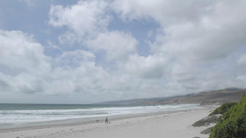 Time lapse of clouds over Jalama County Beach, California Stock Video Footage