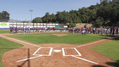 Time lapse of Oak View Little League on opening day in Oak View, California Footage