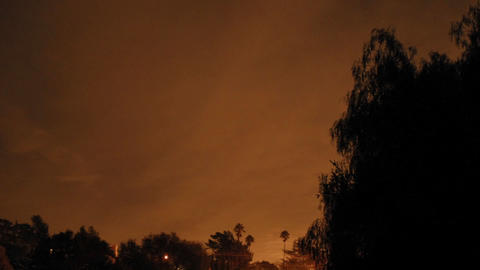 Time lapse of full moon total lunar eclipse getting bright in Oak View, California Footage