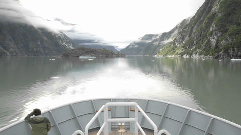 Point of view time lapse of a ship cruising towards Sawyer Glacier in Tracy Arm - Fords Terror Wilde Footage