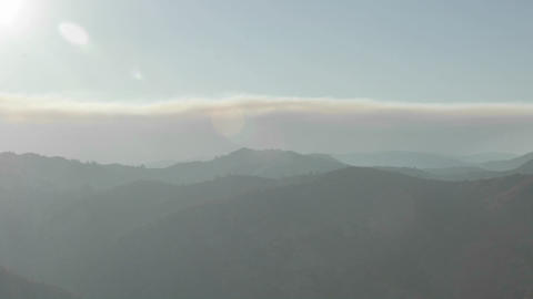 Time lapse of a smokey sunset from wildfires in the Santa Ynez Mountains, California Footage