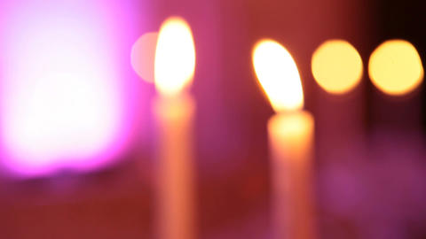 candle blur Stock Video Footage