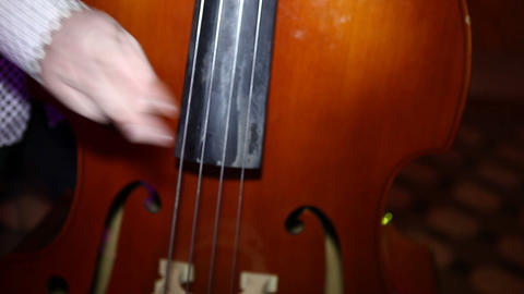 contrabass muzik Stock Video Footage