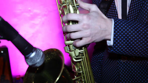 saxophone 01 Stock Video Footage