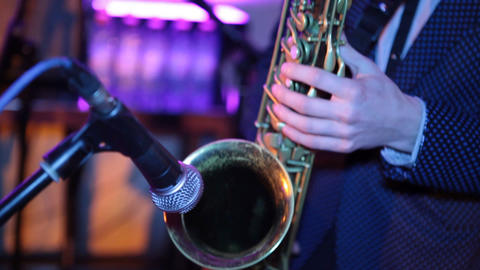 saxophone 03 Stock Video Footage