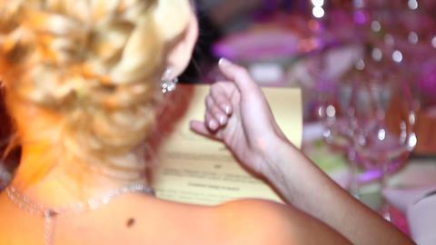women read menu Stock Video Footage