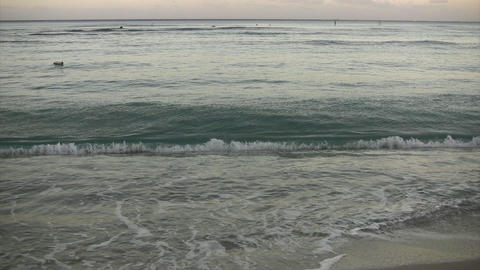 Morning Waikiki Beach02 Stock Video Footage