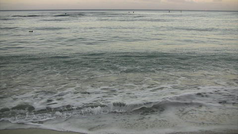 Morning Waikiki Beach02 Footage