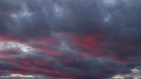 beautiful sunset clouds Stock Video Footage