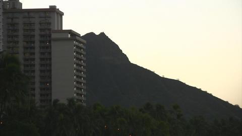 Early morning Diamond Head Stock Video Footage